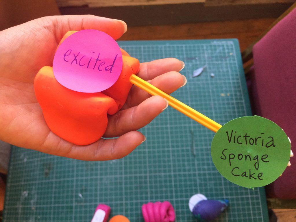 An unusual idea about Victoria sponge cake.